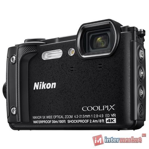 Компактный фотоаппарат Nikon Coolpix W300, черный