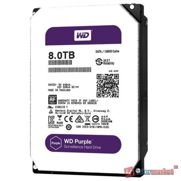 Жесткий диск Western Digital WD Purple 8 TB (WD80PUZX)