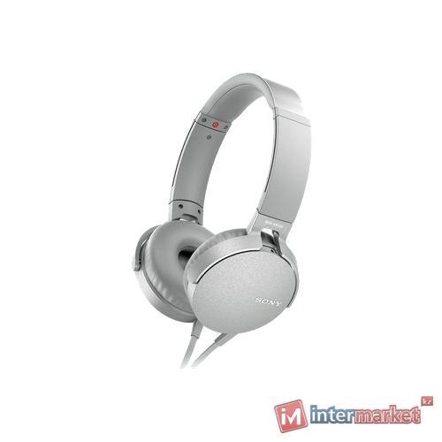 Наушники + микрофон SONY MDR XB 550AP (white)