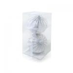 Шар бело-серебристый со стразами d10см 2шт/уп